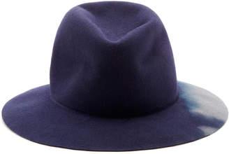 Albertus Swanepoel Dip Dye Fur Felt Fedora Size: M