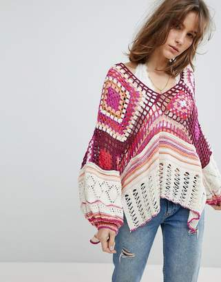 Free People Call Me Crochet Jumper