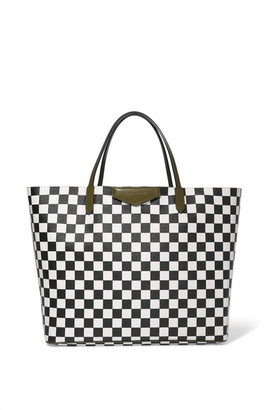 Givenchy - Antigona Shopping Large Checked Textured-leather Tote - Black $1,320 thestylecure.com
