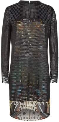 Roberto Cavalli Leather Lattice Dress
