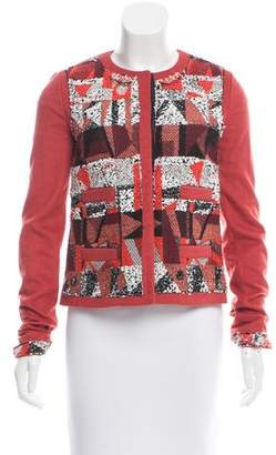 Peter Som Woven Collarless Jacket