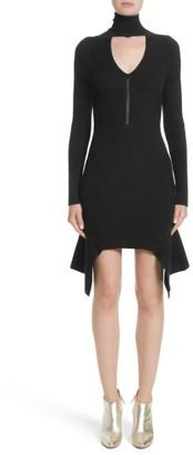 Women's Versace Knit Keyhole Turtleneck Dress $825 thestylecure.com
