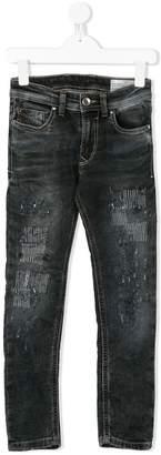 Diesel distressed washed skinny jeans