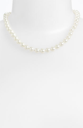 Givenchy Glass Pearl Necklace