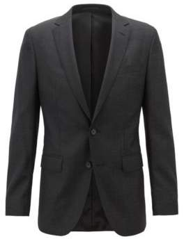 BOSS Hugo Slim-fit jacket in micro-patterned wool natural stretch 38R Black