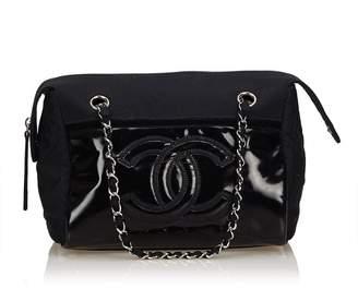 Chanel Vintage Satin Chain Shoulder Bag