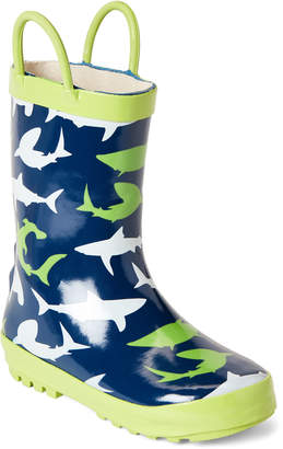 Lilly Of New York (Toddler Boys) Sharks Rain Boots