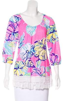 Lilly Pulitzer Printed Long Sleeve Top