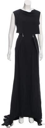 Maison Margiela Silk Chain-Trimmed Dress
