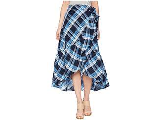 Lauren Ralph Lauren Plaid Ruffled Skirt Women's Skirt