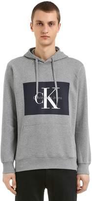 Calvin Klein Jeans Classic Logo Hooded Cotton Sweatshirt