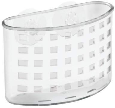 Suction, Bath Organizer, Clear, Holes on bottom allow water to drain By InterDesign Ship from US