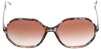Chanel Marbled Geometric Sunglasses