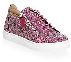 5fe1db416eb1b Giuseppe Zanotti Baby's, Toddler's, & Girl's Glitter Double Zip Low Top  Sneakers