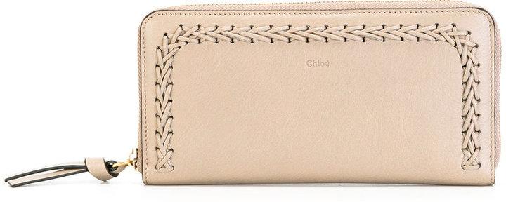 Chloé Chloé 'Hudson' top-stitched wallet