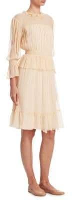 See by Chloe Silk Flounce Dress