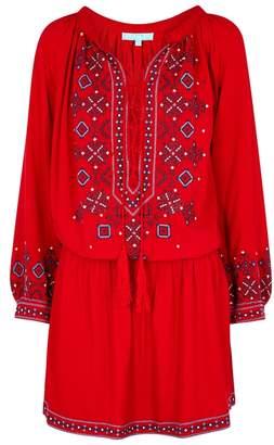 Melissa Odabash Nadja Embroidered Cotton Dress