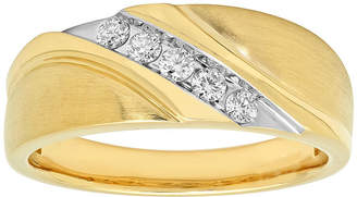 MODERN BRIDE Mens 1/4 CT. T.W. Diamond 10K Yellow Gold Ring