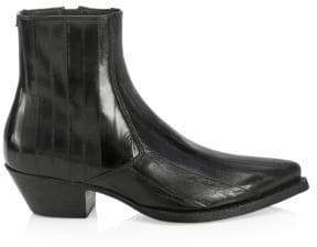 Saint Laurent Lukas Leather Ankle Boots