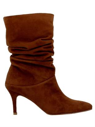 Stuart Weitzman Saddle Suede Ankle Boots