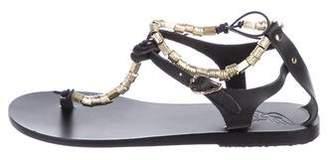 Ancient Greek Sandals Embellished Thong Sandals