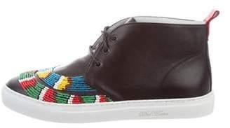Del Toro Bead-Embellished Chukka Sneakers w/ Tags