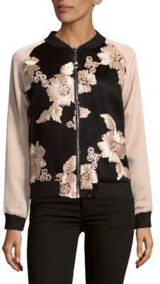Goldie Floral Zippered Jacket