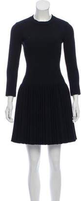 Alaia Pleated Wool Dress