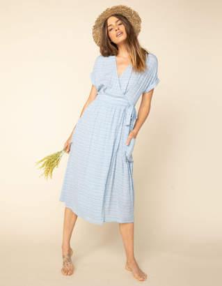 West Of Melrose Blue Moon Wrap Midi Dress