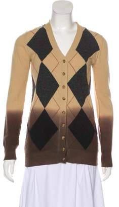 Dolce & Gabbana Argyle Long Sleeve Cardigan