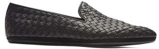 Bottega Veneta Intrecciato Weave Leather Loafers - Mens - Black