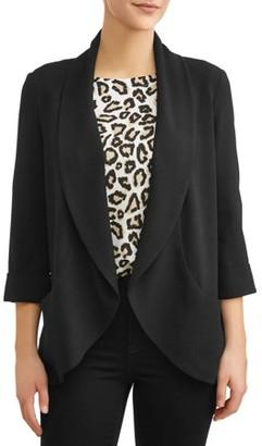 Time and Tru Women's Drape Front Blazer