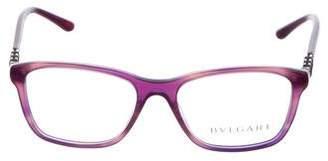 Bvlgari Embellished Rectanglar Eyeglasses