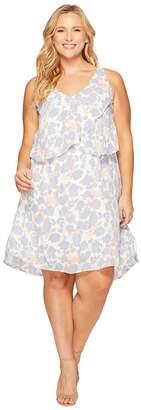 Bobeau B Collection by Plus Size Lane Double V Woven Dress Women's Dress