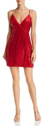 BCBGMAXAZRIA Velvet Faux-Wrap Dress