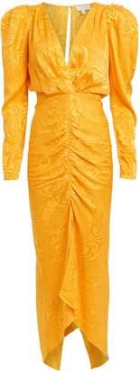 Ronny Kobo Astrid Ruched Moire Dress