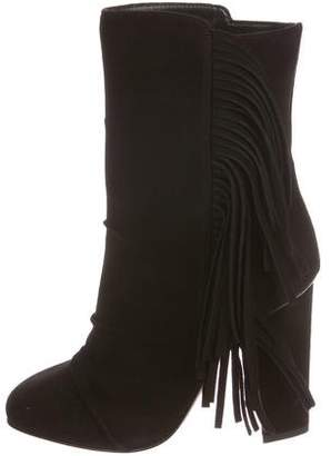 Giuseppe Zanotti Fringe Ankle Boots w/ Tags