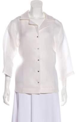 Organic by John Patrick Long Sleeve Button-Up Blouse