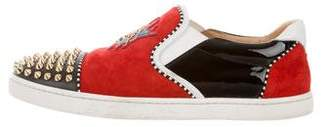 Christian Louboutin Spiked Cap-Toe Slip-On Sneakers
