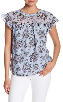 Daniel Rainn DR2 by Bow Back Patterned Cap Sleeve Blouse
