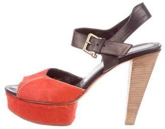 Derek Lam Ponyhair Platform Sandals