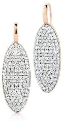Walters Faith Lytton 18K Diamond Oval Drop Earring