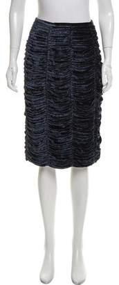 Burberry Ruched Velvet Skirt
