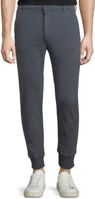 Paige Baxter Chino Jogger Pants, Smoke Blue