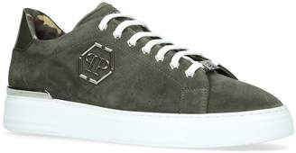 Philipp Plein Suede Hexagonal Sneakers