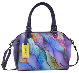 Anuschka Abstract Printed Leather Satchel