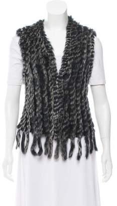 Metric Knits Rabbit Fur Vest w/ Tags