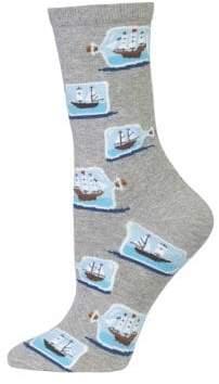 Hot Sox Ship Battle Graphic Socks