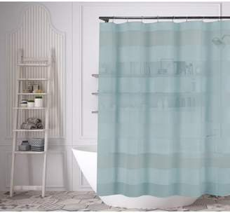 Duck River Capricia 70 in. W x 70in. L Polyester Shower Curtain in Aqua Blue