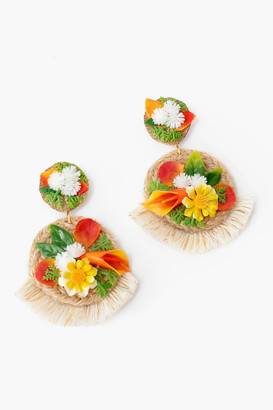 Maria Camila Mesa Flower Fringe Earrings